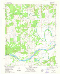 Download a high-resolution, GPS-compatible USGS topo map for Bluff, OK (1981 edition)