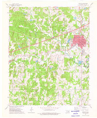 Download a high-resolution, GPS-compatible USGS topo map for Bristow, OK (1976 edition)
