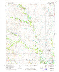 Download a high-resolution, GPS-compatible USGS topo map for Delaware, OK (1974 edition)