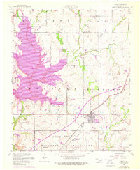 Download a high-resolution, GPS-compatible USGS topo map for Elgin, OK (1976 edition)