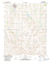 Download a high-resolution, GPS-compatible USGS topo map for Leedey, OK (1987 edition)