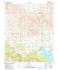 Download a high-resolution, GPS-compatible USGS topo map for Meers, OK (1992 edition)