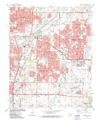 Download a high-resolution, GPS-compatible USGS topo map for Midwest City, OK (1987 edition)
