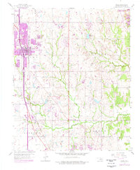Download a high-resolution, GPS-compatible USGS topo map for Moore, OK (1976 edition)