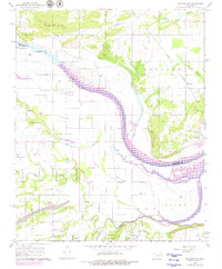 Download a high-resolution, GPS-compatible USGS topo map for Muldrow SW, OK (1979 edition)
