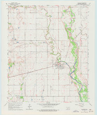 Download a high-resolution, GPS-compatible USGS topo map for Olustee, OK (1977 edition)