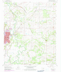 Download a high-resolution, GPS-compatible USGS topo map for Poteau East, OK (1983 edition)