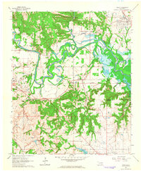 Download a high-resolution, GPS-compatible USGS topo map for Ravia, OK (1964 edition)