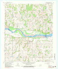 Download a high-resolution, GPS-compatible USGS topo map for Rosedale, OK (1983 edition)