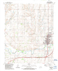 Download a high-resolution, GPS-compatible USGS topo map for Sayre, OK (1989 edition)