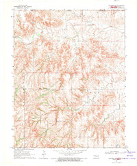 Download a high-resolution, GPS-compatible USGS topo map for Tegarden NW, OK (1971 edition)
