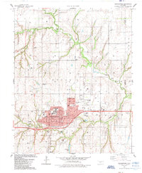 Download a high-resolution, GPS-compatible USGS topo map for Weatherford, OK (1985 edition)