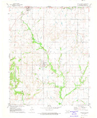Download a high-resolution, GPS-compatible USGS topo map for Welch South, OK (1973 edition)