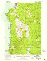 USGS 1:62500-scale Quadrangle for Cannon Beach, OR 1955 - Data.gov on