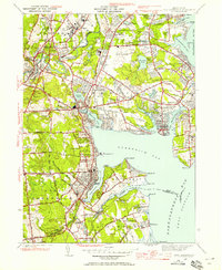 Download a high-resolution, GPS-compatible USGS topo map for East Greenwich, RI (1958 edition)