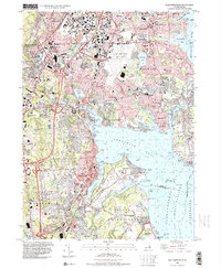 Download a high-resolution, GPS-compatible USGS topo map for East Greenwich, RI (2000 edition)
