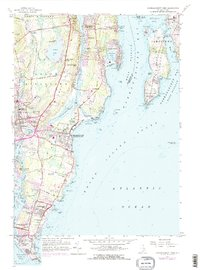 Download a high-resolution, GPS-compatible USGS topo map for Narragansett Pier, RI (1976 edition)
