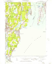 Download a high-resolution, GPS-compatible USGS topo map for Narragansett Pier, RI (1957 edition)