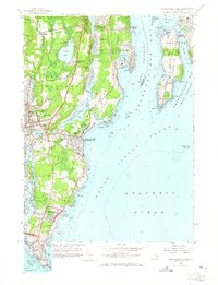 Download a high-resolution, GPS-compatible USGS topo map for Narragansett Pier, RI (1965 edition)