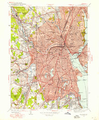 Download a high-resolution, GPS-compatible USGS topo map for Providence, RI (1958 edition)