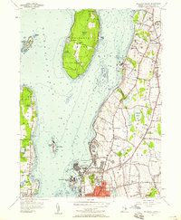 Download a high-resolution, GPS-compatible USGS topo map for Prudence Island, RI (1958 edition)