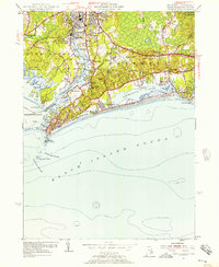 Download a high-resolution, GPS-compatible USGS topo map for Watch Hill, RI (1957 edition)
