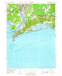 Download a high-resolution, GPS-compatible USGS topo map for Watch Hill, RI (1964 edition)