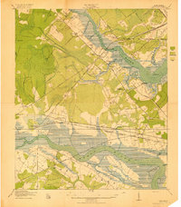 Download a high-resolution, GPS-compatible USGS topo map for Johns Island, SC (1919 edition)
