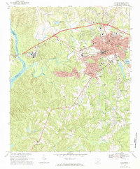 Download a high-resolution, GPS-compatible USGS topo map for Lancaster, SC (1984 edition)