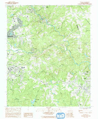 Download a high-resolution, GPS-compatible USGS topo map for Pacolet, SC (1992 edition)