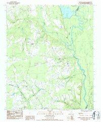 Download a high-resolution, GPS-compatible USGS topo map for Pamplico North, SC (1987 edition)