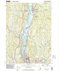 Download a high-resolution, GPS-compatible USGS topo map for Bellows Falls, VT (2002 edition)