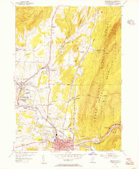 Download a high-resolution, GPS-compatible USGS topo map for Bennington, VT (1956 edition)