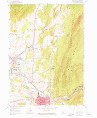 Download a high-resolution, GPS-compatible USGS topo map for Bennington, VT (1973 edition)