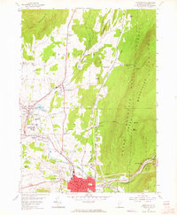 Download a high-resolution, GPS-compatible USGS topo map for Bennington, VT (1965 edition)
