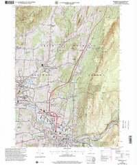 Download a high-resolution, GPS-compatible USGS topo map for Bennington, VT (2000 edition)