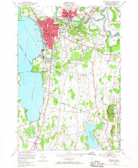 Download a high-resolution, GPS-compatible USGS topo map for Burlington, VT (1967 edition)
