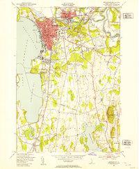 Download a high-resolution, GPS-compatible USGS topo map for Burlington, VT (1953 edition)