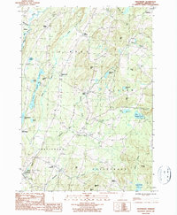 Download a high-resolution, GPS-compatible USGS topo map for Craftsbury, VT (1987 edition)