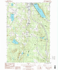 Download a high-resolution, GPS-compatible USGS topo map for Crystal Lake, VT (1987 edition)