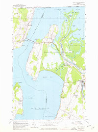 Download a high-resolution, GPS-compatible USGS topo map for East Alburg, VT (1976 edition)