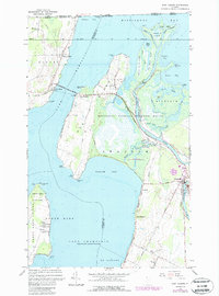 Download a high-resolution, GPS-compatible USGS topo map for East Alburg, VT (1987 edition)