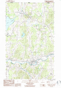Download a high-resolution, GPS-compatible USGS topo map for Enosburg Falls, VT (1987 edition)