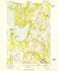 Download a high-resolution, GPS-compatible USGS topo map for Fort Ethan Allen, VT (1953 edition)