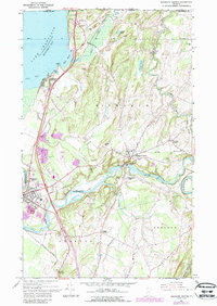 Download a high-resolution, GPS-compatible USGS topo map for Highgate Center, VT (1987 edition)