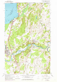 Download a high-resolution, GPS-compatible USGS topo map for Highgate Center, VT (1973 edition)