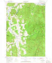 Download a high-resolution, GPS-compatible USGS topo map for Huntington, VT (1967 edition)