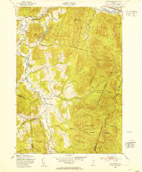 Download a high-resolution, GPS-compatible USGS topo map for Huntington, VT (1953 edition)