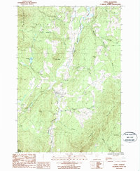 Download a high-resolution, GPS-compatible USGS topo map for Lowell, VT (1987 edition)