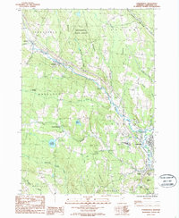 Download a high-resolution, GPS-compatible USGS topo map for Lyndonville, VT (1987 edition)